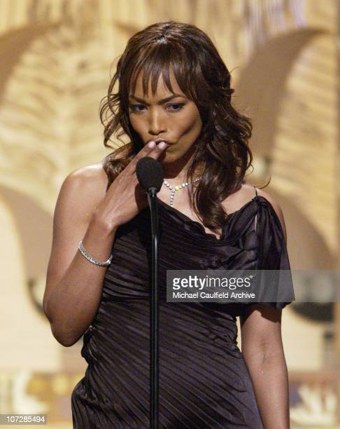 Angela Bassett presents during The 17th Annual American Cinematheque Award Honoring Denzel Washington Show and Backstage at Beverly Hilton Hotel in...