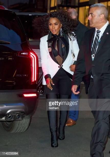 Angela Bassett seen at Chanel Tribeca Film Festival dinner at Balthazar on April 29 2019 in New York City