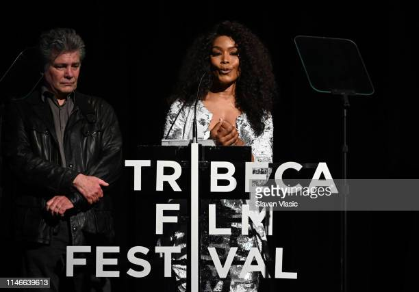 Angela Bassett speaks onstage at Awards Night - 2019 Tribeca Film Festival at BMCC Tribeca PAC on May 02, 2019 in New York City.