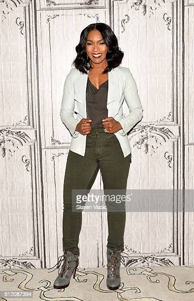 Angela Bassett visits AOL Build Speakers Series to discuss 'London Has Fallen' the sequel to the worldwide smash hit 'Olympus Has Fallen' at AOL...