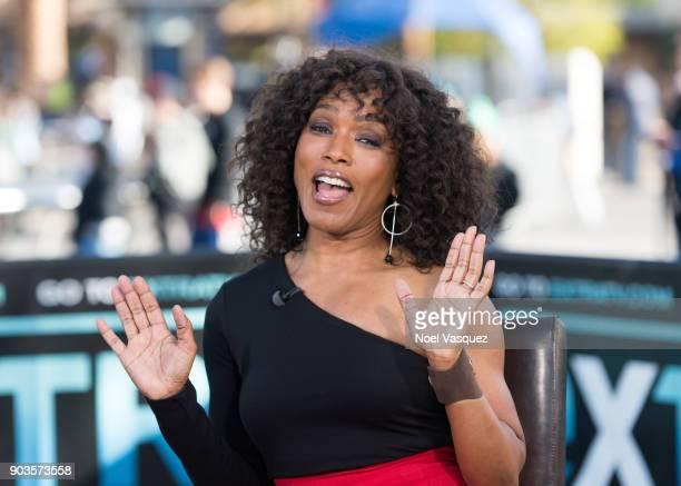 Angela Bassett visits 'Extra' at Universal Studios Hollywood on January 10 2018 in Universal City California