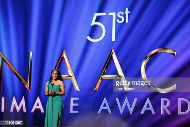 Angela Bassett winner of the Outstanding Actress in a Drama Series award for 911 speaks onstage during the 51st NAACP Image Awards Presented by BET...
