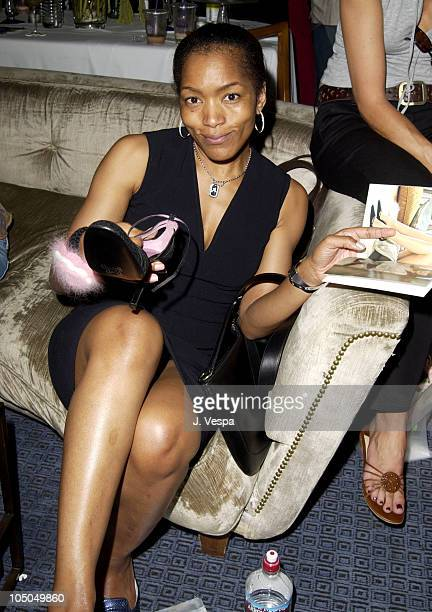 Angela Bassett with Charles David shoes during The Cabana Beauty Buffet Day 2 at The Chateau Marmont in Los Angeles California United States