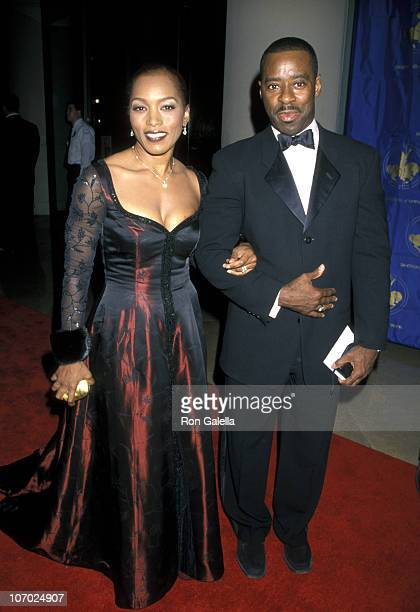Angela Bassett with her husband Courtney B Vance during 13th Annual Carousel of Hope Ball Benefiting Childrens Diabetes at Beverly Hilton Hotel in...