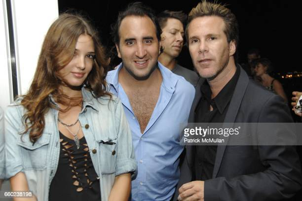 Angela Bellonte Judd Nydes and Scott Lipps attend Scott Lipps President of One Management's Birthday at Cooper Square Hotel on July 29 2009 in New...