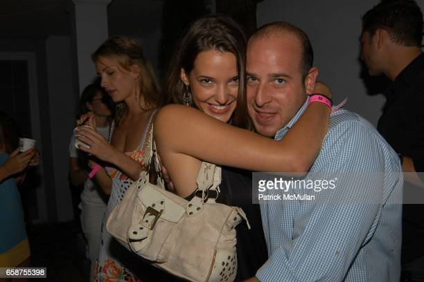 Angela Bellotte and Noah Tepperberg attend the Launch Party for Paris Hilton's New Record Label Heiress Records at the Play Station 2 Estate on July...