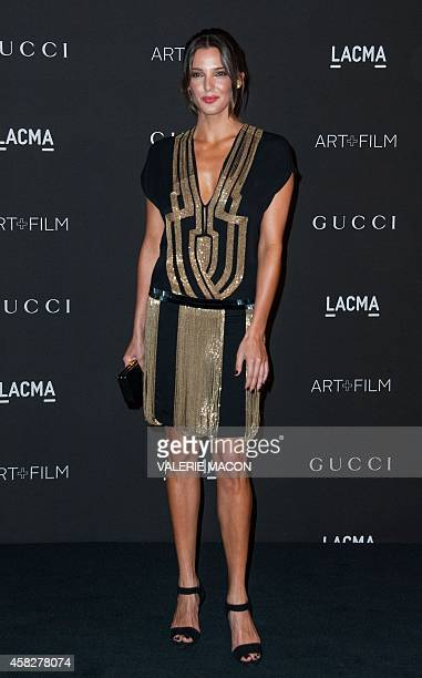 Angela Bellotte arrives at 2014 LACMA ARTFILM gala honoring Barbara Kruger and Quentin Tarantino in Los Angeles California November 1st 2014 AFP...