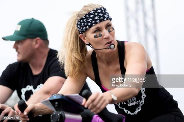 Angela Bennet riders at the 6th Annual Tour de Pier at Manhattan Beach Pier on May 20 2018 in Manhattan Beach California