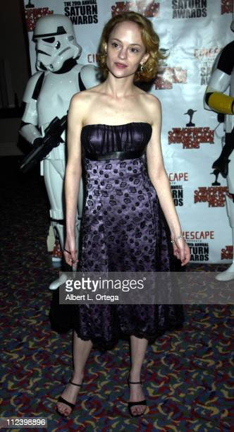 Angela Bettis during The 29th Annual Saturn Awards By The Academy Of Science Fiction Fantasy And Horror Arrivals at Renaissance Hotel in Hollywood...