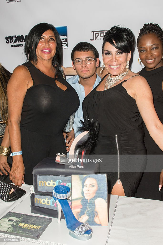 Angela 'Big Ang' Raiola, AJ Pagan, Renee Graziano, and Tiffany Bowen attend Renee Graziano's Celebrity Dinner Party at Midtown 1015 on July 10, 2013 in New York City.