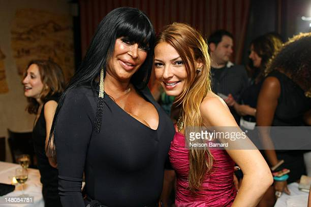 Angela Big Ang Raiola and Drita D'Avanzo attend the VH1 Big Ang Party at Trattoria Dopo Teatro on July 8 2012 in New York City