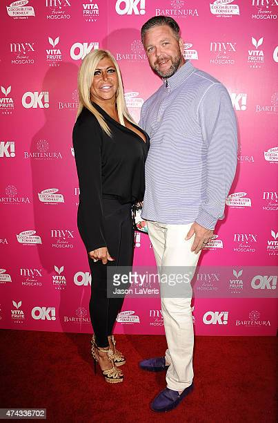 Angela Big Ang Raiola and husband Neil Murphy attend OK Magazine's So Sexy event at SkyBar at the Mondrian Los Angeles on May 21 2015 in West...