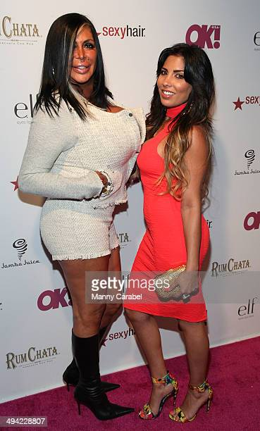 "Angela ""Big Ang"" Raiola and Natalie Guercio attend OK! Magazine's ""So Sexy"" NY party at Marquee on May 28, 2014 in New York City."