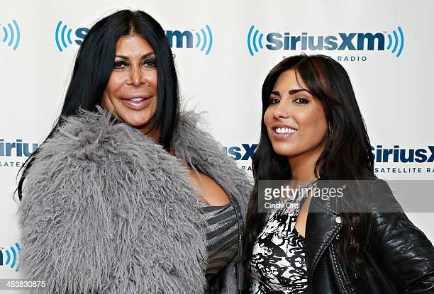 Angela 'Big Ang' Raiola and Natalie Guercio visit the SiriusXM Studios on December 5, 2013 in New York City.