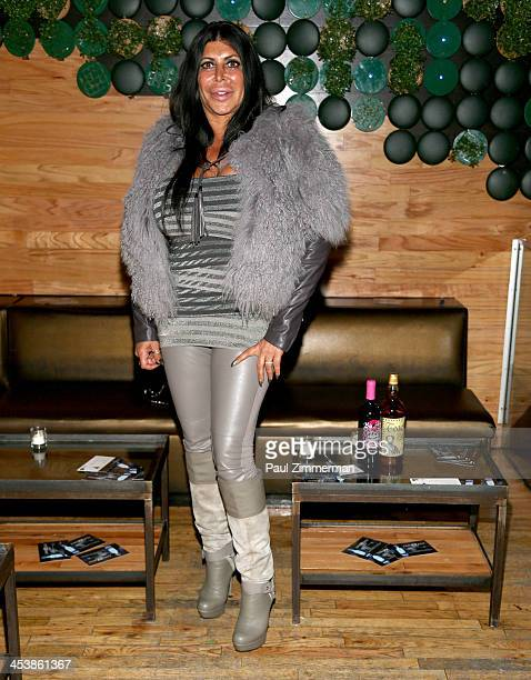 Angela Big Ang Raiola attends Mob Wives Season 4 premiere at Greenhouse on December 5 2013 in New York City