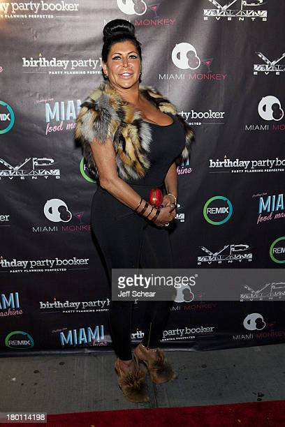 Angela Big Ang Raiola attends the MIAMI MONKEY Premiere Party Presented By JustJenn Productions And The Weinstein Company at 49 Grove on September 8...