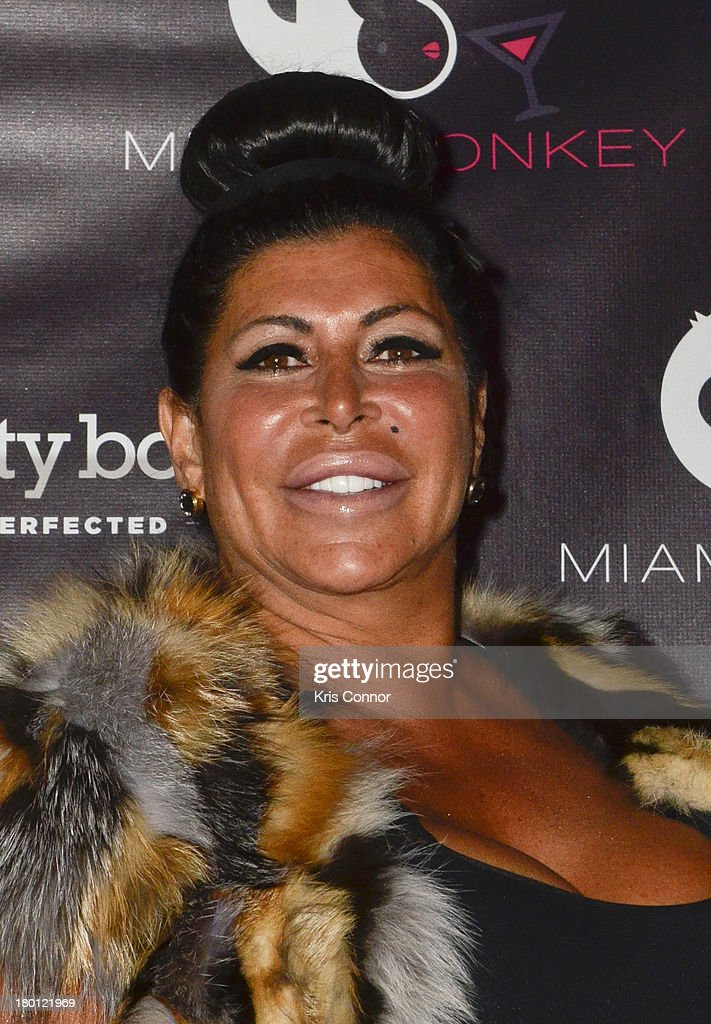 Angela 'Big Ang' Raiola poses for photos during the 'Miaimi Monkey' New Screening at 49 Grove on September 8, 2013 in New York City.