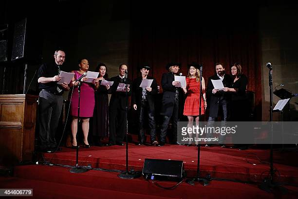 Angela Birchett Mary Louise Parker David Hyde Pierce Victoria Clark Jane Kelly Williams and members of The Texas Tenors perform at Bless This House A...