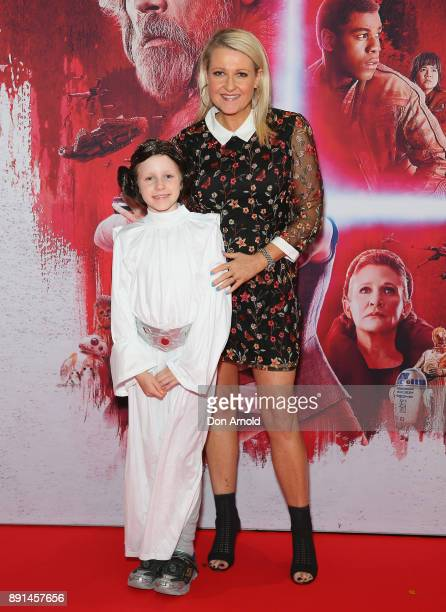 Angela Bishop and daughter Amelia Baikie attend Star Wars The Last Jedi Sydney Screening Event on December 13 2017 in Sydney Australia