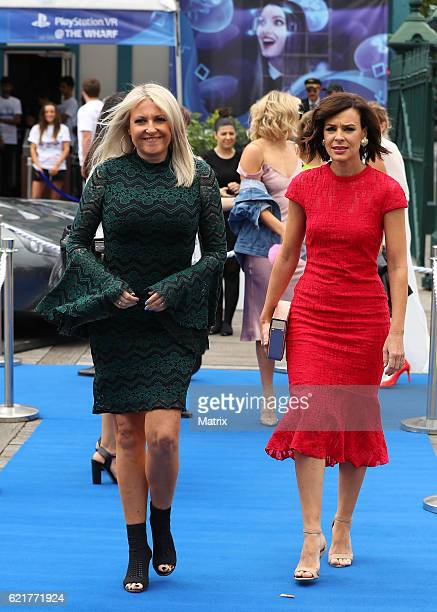 Angela Bishop and Natarsha Belling arrive at the Sony Foundations Wharf 4 Ward 2016 event at Woolloomooloo Wharf on October 27 2016 in Sydney...