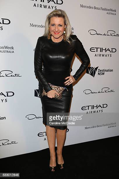 Angela Bishop attends the Oscar de la Renta show presented by Etihad Airways at MercedesBenz Fashion Week Resort 17 Collections at Carriageworks on...