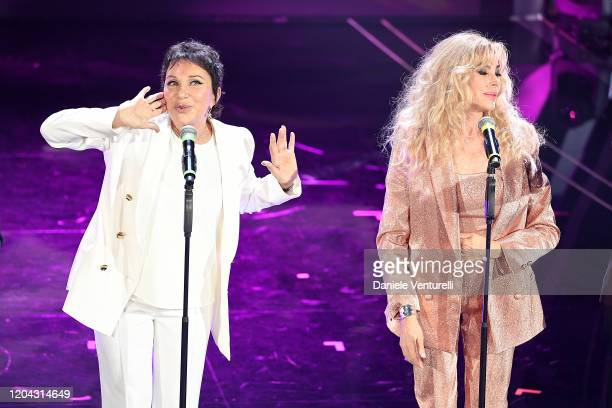 Angela Brambati and Marina Occhiena attend the 70° Festival di Sanremo at Teatro Ariston on February 05 2020 in Sanremo Italy