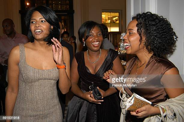 Angela BurtMurray Denene Millner and Mitzi Miller attend Amistad Hosts The Vow Publication Party at The House of Harry Winston on November 2 2005 in...