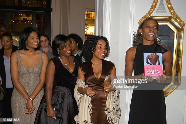 Angela BurtMurray Denene Millner Mitzi Miller and Dawn Davis attend Amistad Hosts The Vow Publication Party at The House of Harry Winston on November...
