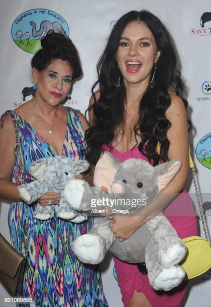 Angela Capri and Natasha Blasick attend the Celebration for World Elephant Day Hosted By Elephants In My Backyard held at Trunk Club on August 12...
