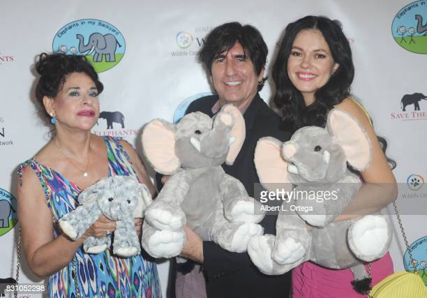 Angela Capri Martin Blasick and Natasha Blasick attend the Celebration for World Elephant Day Hosted By Elephants In My Backyard held at Trunk Club...