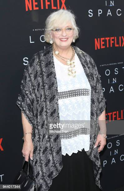 Angela Cartwright arrives to the Los Angeles premiere of Netflix's 'Lost In Space' Season 1 held at The Cinerama Dome on April 9 2018 in Los Angeles...