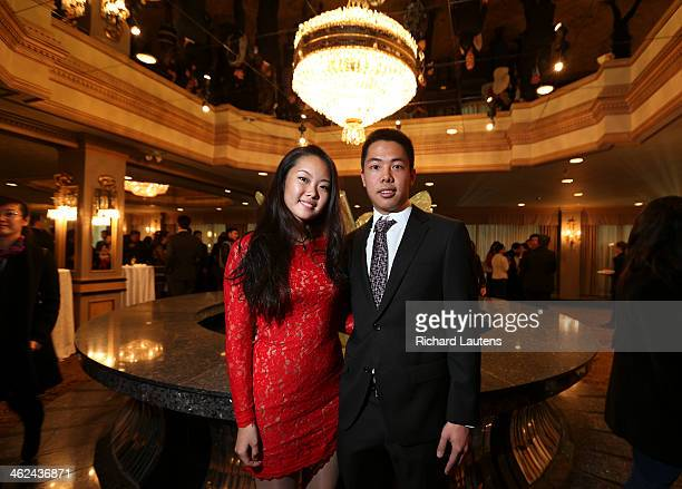 Angela Chen and Jannis Mei met up as they were old friends from high school Weekly City Nights photos from the Chinese Professionals Association of...
