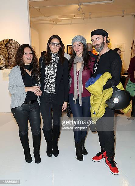 Angela Cioffi Paola Beretti Tania Beltrano and Micjele Petruzziello attend 'love art give a smile' Art Fashion And Design Benefit at Clen Gallery on...