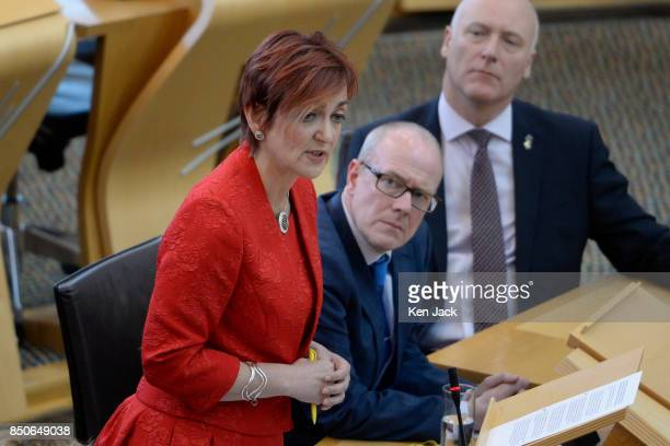 Angela Constance Cabinet Secretary for Communities responds to a question on the discovery of Grenfelltype cladding on highrise flats in Glasgow...