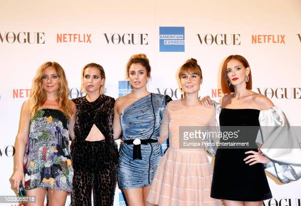Angela Cremonte Ana Fernandez Blanca Suarez Nadia de Santiago Ana Polvorosa attend the 'Vogue fashion's Night Out' photocall at Ortega y Gasset...