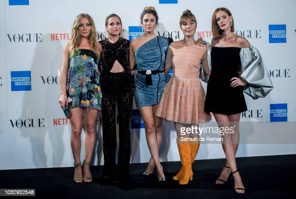 Angela Cremonte Ana Fernandez Blanca Suarez Nadia de Satiago and Ana Polvorosa attend the 'Vogue fashion's Night Out' photocall at Ortega y Gasset...