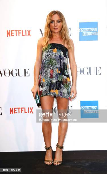 Angela Cremonte attend the 'Vogue fashion's Night Out' photocall at Ortega y Gasset street on September 13 2018 in Madrid Spain