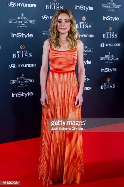 Angela Cremonte attends 'El Jardin Del Miguel Angel And Instyle Beauty Night' party at Miguel Angel Hotel on May 22 2018 in Madrid Spain