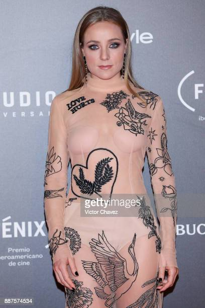 Angela Cremonte attends the Premio Iberoamericano De Cine Fenix 2017 at Teatro de La Ciudad on December 6 2017 in Mexico City Mexico