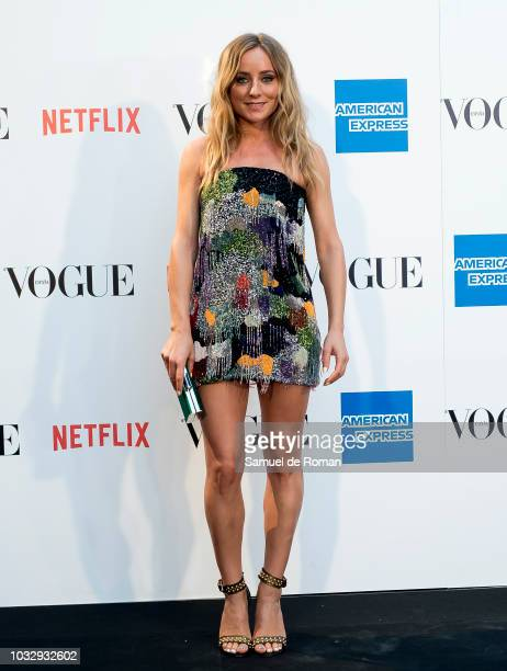 Angela Cremonte attends the 'Vogue fashion's Night Out' photocall at Ortega y Gasset street on September 13 2018 in Madrid Spain