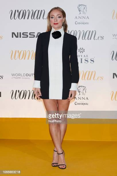 Angela Cremonte attends the Woman Magazine Awards photocall at Madrid's Casino on October 30 2018