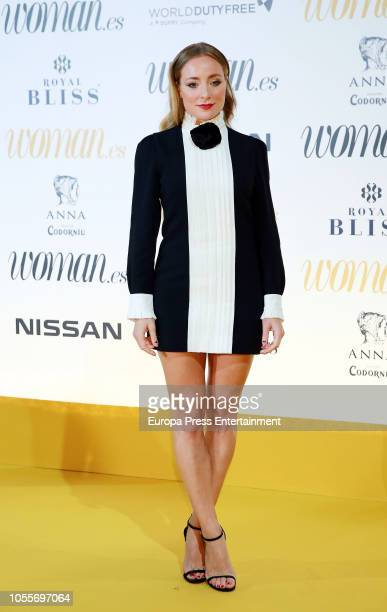 Angela Cremonte attends the Woman Magazine Awards photocall at Madrid's Casino on October 30 2018 in Madrid Spain