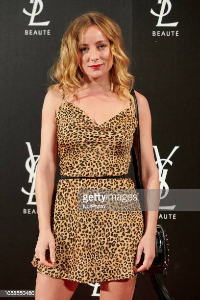 Angela Cremonte attends the YVES SAINT LAURENT THE SLIM Rouge PurCouture party photocall at Santona Palace in Madrid on October 6 2018