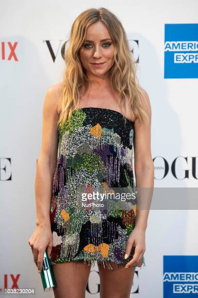 Angela Cremonte attends to photocall of Vogue Fashion Night Out 2018 in Madrid Spain September 14 2018