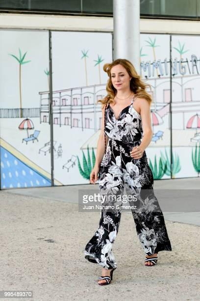 Angela Cremonte La Redoutte dress and Bdba handbag during the Mercedes Benz Fashion Week Spring/Summer 2019 at IFEMA on July 10 2018 in Madrid Spain