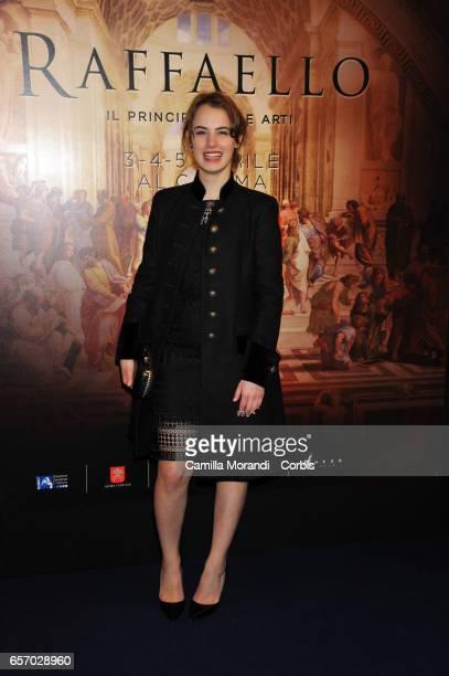 Angela Curri attends a photocall for 'Raffaello Il Principe Delle Arti' on March 23 2017 in Rome Italy