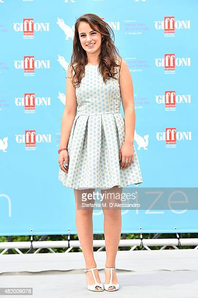Angela Curri of 'Braccialetti Rossi' Tv Series attends Giffoni Film Festival 2015 Day 10 photocall on July 26 2015 in Giffoni Valle Piana Italy