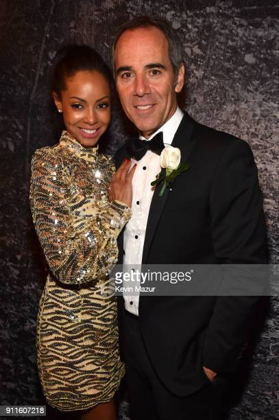Angela Davis and Chairman/CEO of Republic Records Monte Lipman attends the Universal Music Group's 2018 After Party to celebrate the Grammy Awards...