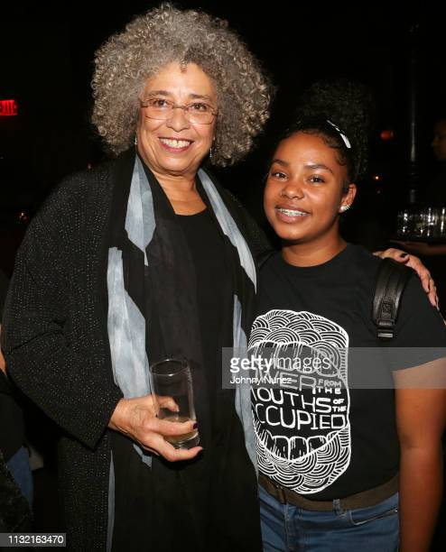 Angela Davis attends POWER From The Mouths Of The Occupied at The Public Theater on February 24 2019 in New York City