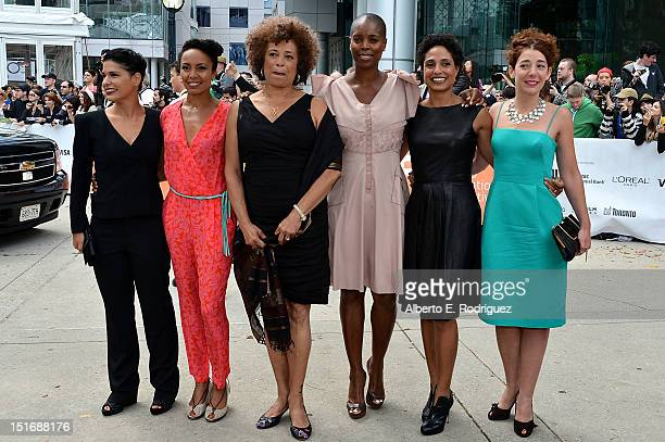 Angela Davis producer Sidra Smith director Shola Lynch and guests attend the Free Angela All Political Prisoners premiere during the 2012 Toronto...